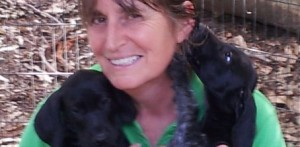 black puppies smile